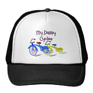 My Daddy Cycles--Kids Biking T-shirts Trucker Hats