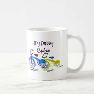 My Daddy Cycles--Kids Biking T-shirts Coffee Mugs