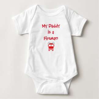 """My Daddy is a Fireman"" Baby Bodysuit"