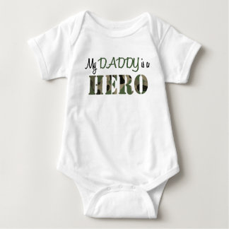 My DADDY is a HERO Baby Bodysuit