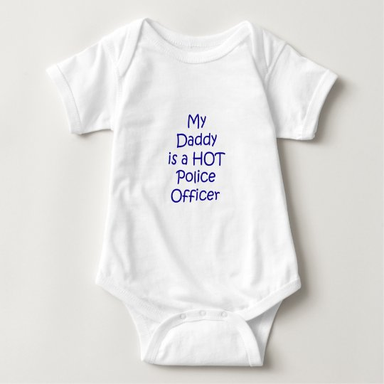 My daddy is a hot police officer baby bodysuit