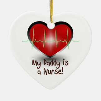 My daddy is a nurse christmas ornament