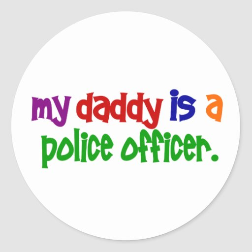 My Daddy Is A Police Officer 1 (Primary) Stickers