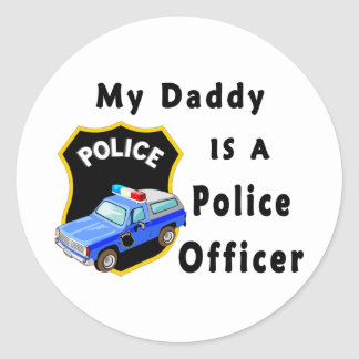 My Daddy Is A Police Officer Round Stickers