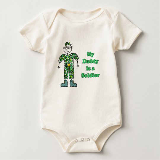 My Daddy is a Soldier Baby Bodysuit