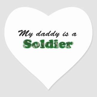 My daddy is a soldier heart sticker