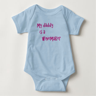 My daddy is a winemaker baby bodysuit