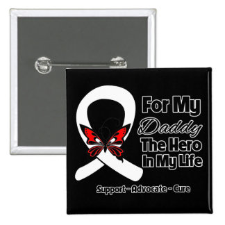 My Daddy - Lung Cancer Awareness 15 Cm Square Badge