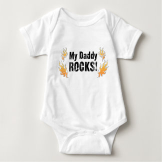 My Daddy Rocks Baby Bodysuit