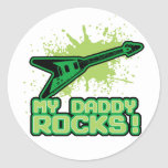 My Daddy Rocks! Round Sticker