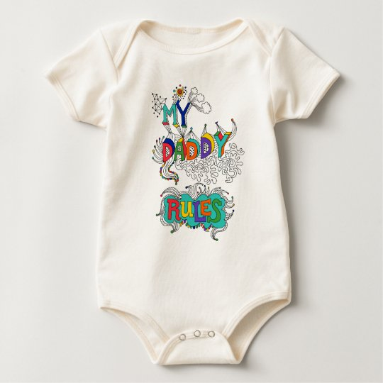 My Daddy Rules Baby Bodysuit