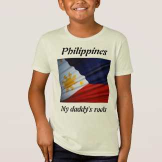 My daddy's roots philippines kids t-shirts