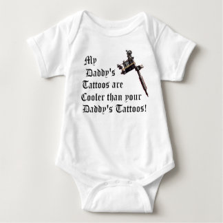 My Daddy's Tattoos Baby Bodysuit
