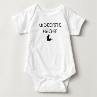 My Daddy's the Fire Chief with Silhouette Baby Bodysuit