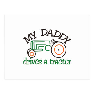 My Daddys Tractor Postcard