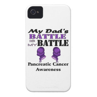 My Dad's Battle Is My Battle, Pancreatic Cancer Case-Mate iPhone 4 Cases