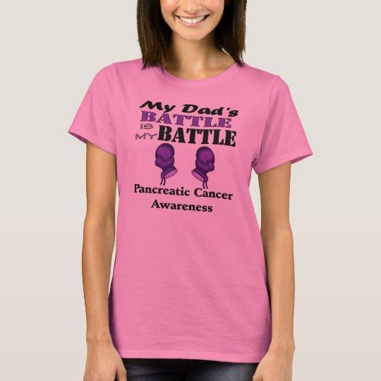 My Dad's Battle Is My Battle, Pancreatic Cancer T-Shirt