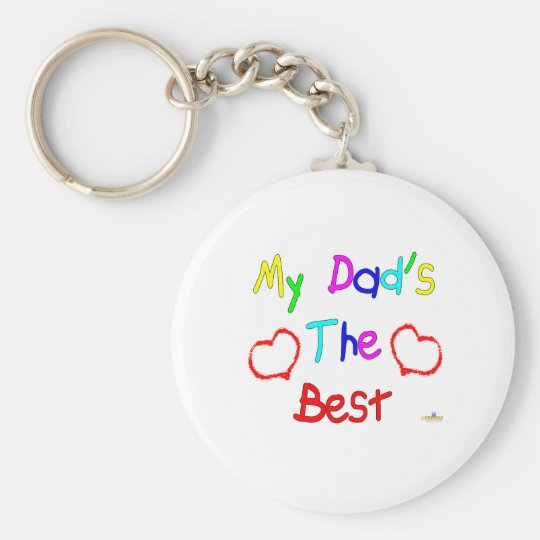 My Dad's The Best Basic Round Button Key Ring
