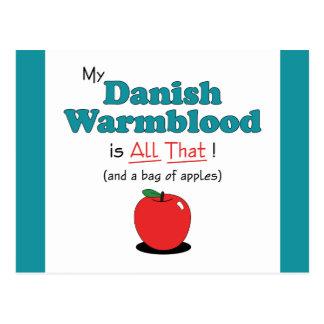 My Danish Warmblood is All That! Funny Horse Postcard