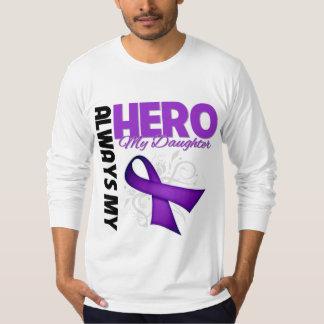 My Daughter Always My Hero - Purple Ribbon Tee Shirt