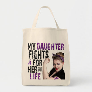 My DAUGHTER fights for her life... Canvas Bags