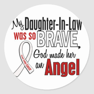 My Daughter-In-Law Is An Angel Lung Cancer Round Sticker