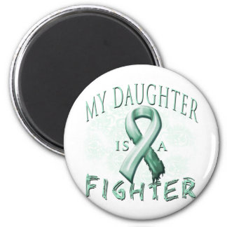My Daughter is a Fighter Teal 6 Cm Round Magnet
