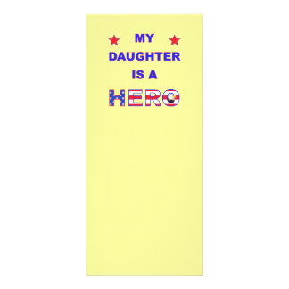 My Daughter Is A Hero Custom Rack Cards