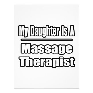 My Daughter Is A Massage Therapist Flyers