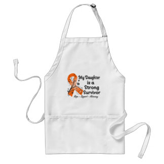 My Daughter is a Strong Survivor Orange Ribbon Adult Apron