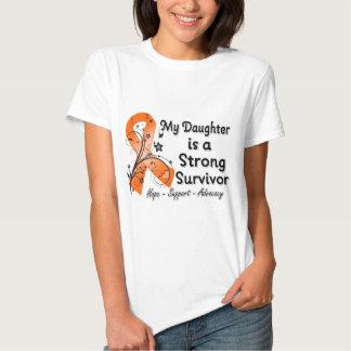 My Daughter is a Strong Survivor Orange Ribbon Shirt