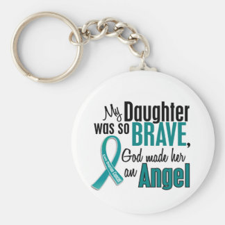 My Daughter Is An Angel 1 Ovarian Cancer Key Ring