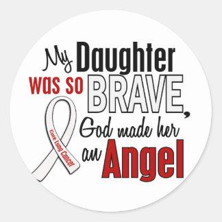 My Daughter Is An Angel Lung Cancer Round Sticker