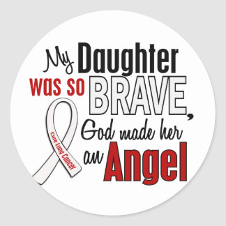 My Daughter Is An Angel Lung Cancer Classic Round Sticker
