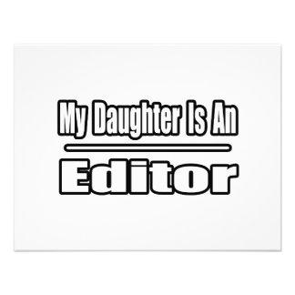 My Daughter Is An Editor Custom Invites