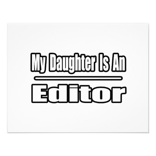 My Daughter Is An Editor Custom Invites