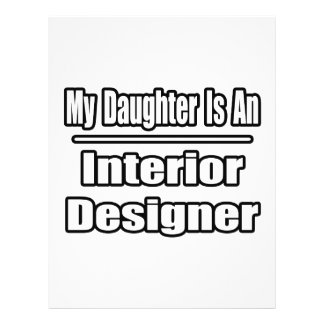 My Daughter Is An Interior Designer 21.5 Cm X 28 Cm Flyer