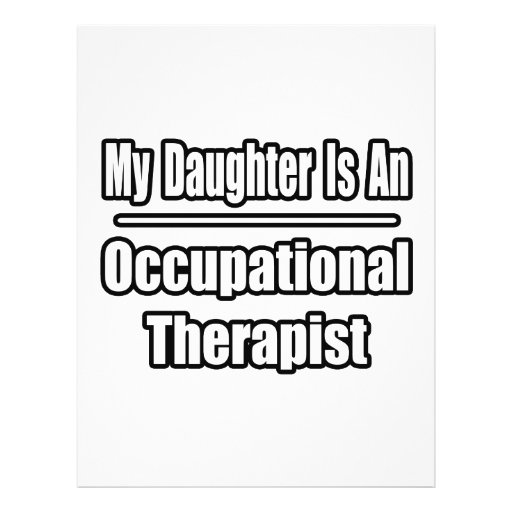 My Daughter Is An Occupational Therapist Personalized Flyer