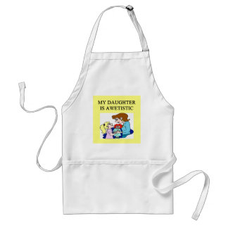 my daughter is autistic apron