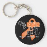 My Daughter is My Hero - Leukaemia Key Chain