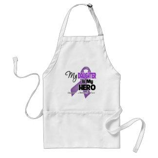 My Daughter is My Hero - Purple Ribbon Adult Apron