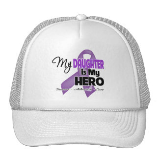 My Daughter is My Hero - Purple Ribbon Mesh Hats