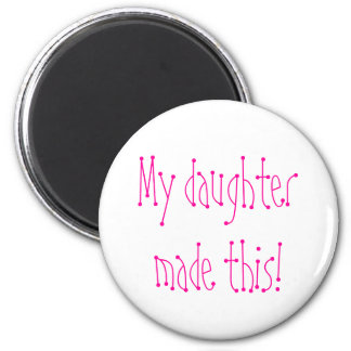 My daughter made this! 6 cm round magnet