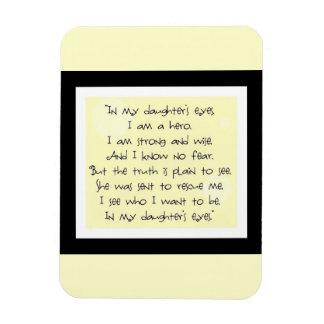 my daughter rectangular photo magnet