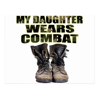 My Daughter Wears Combat Boots Postcard