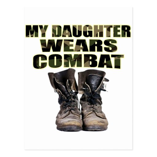 My Daughter Wears Combat Boots Post Card