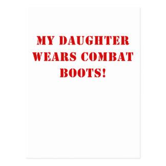 My Daughter Wears Combat Boots Postcard