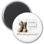 My Daughter Wears Combat Boots Refrigerator Magnet