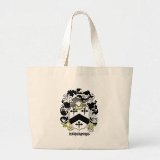 my davenport_family_crest_Black Name Large Tote Bag