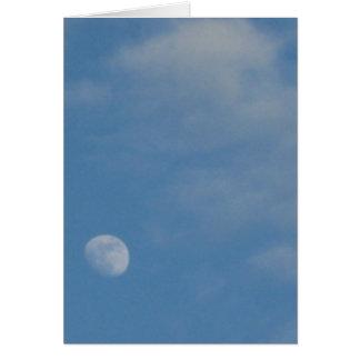 My Daytime Moon - Custom Portrait Note Card